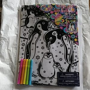 🆕 Lisa Frank Velvert Art Penguin